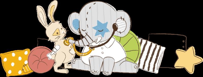 Illustration Elefant und Hase